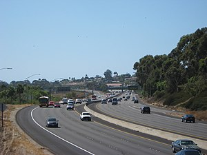 English: Taken off the overpass over Californi...