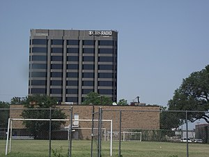 KRLD (AM) - The Dallas, Texas CBS Radio building as viewed from the campus of Dallas Christian Academy on U.S. Route 75