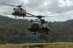 Sikorsky CH-53 Sea Stallion - HMH-362 CH-53Ds landing