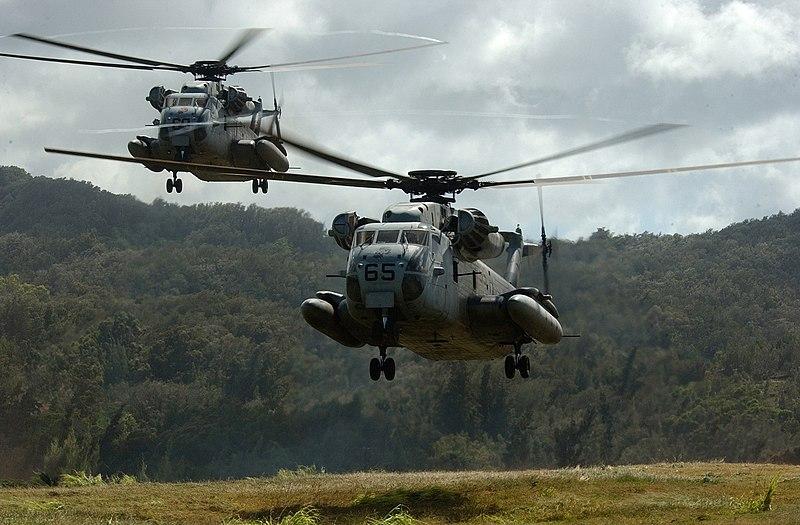 Sikorsky CH53 Yassur FAM 800px-CH-53Ds_landing