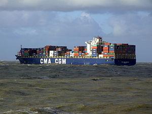 CMA CGM Debussy p9, leaving Port of Rotterdam, Holland 21-Jan-2007.jpg
