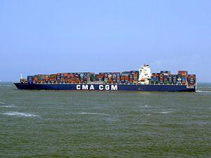 CMA CGM Don Giovanni 9305506 p2, leaving Port of Rotterdam, Holland 03-Jun-2007.jpg