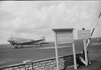 Ngurah Rai International Airport - A Dutch DC-3 Dakota at Kuta airfield in 1949