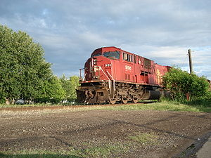 EMD SD90MAC - CP Rail SD9043MAC locomotive in Thunder Bay, Ontario, Canada.