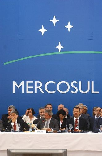 Commercial treaty - MERCOSUR is an example of a commercial treaty between Southern Cone countries.