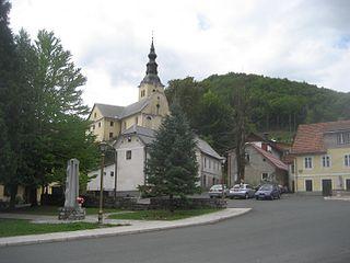 Čabar Town in Primorje-Gorski Kotar, Croatia