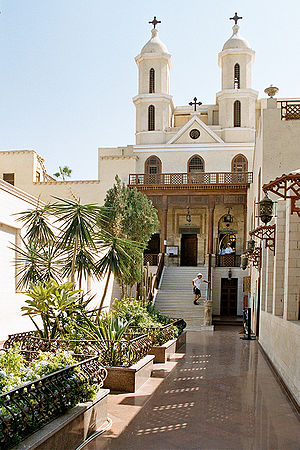 The Hanging Church of Cairo, first built in th...