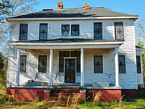Letohatchee, Alabama - Image: Calhoun Colored School Principal's House 2012