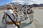 California National Guard Chinooks airlift Marines training in mountain warfare tactics to high elevation landing zones 140328-A-YY327-025.jpg