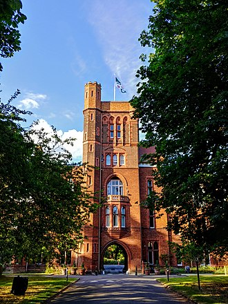 Girton College, Cambridge - Main gate with porter's lodge