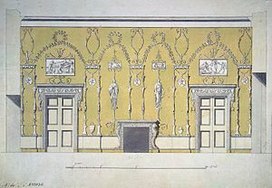 Charles Cameron (architect) - Cameron's draft for the dining room in Catherine Palace