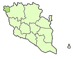 Location of Cameron Highlands District in Pahang