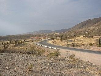 Los Cardones National Park - Image: Camino a Cachi