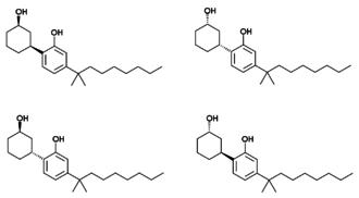 Cannabicyclohexanol - The four enantiomers of cannabicyclohexanol