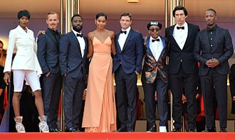 Jasper Pääkkönen - Pääkkönen with Spike Lee and the cast of BlacKkKlansman at the 2018 Cannes Film Festival