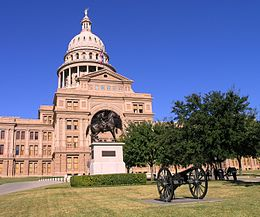 Canon and Ranger monument in front of Texas State Capitol.JPG