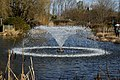 Capel Manor lake fountain from the west, Enfield London England 2.jpg
