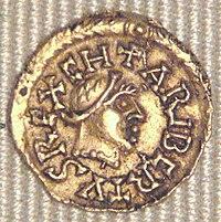 Caribert II Tremissis Banassac 629 632.jpg