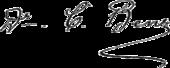 Signature de Carl Benz