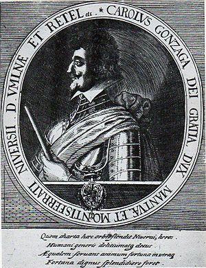 Charles Gonzaga, Duke of Nevers - Portrait of Charles of Gonzaga-Nevers from Matthäus Merian's Theatrum Europaeum