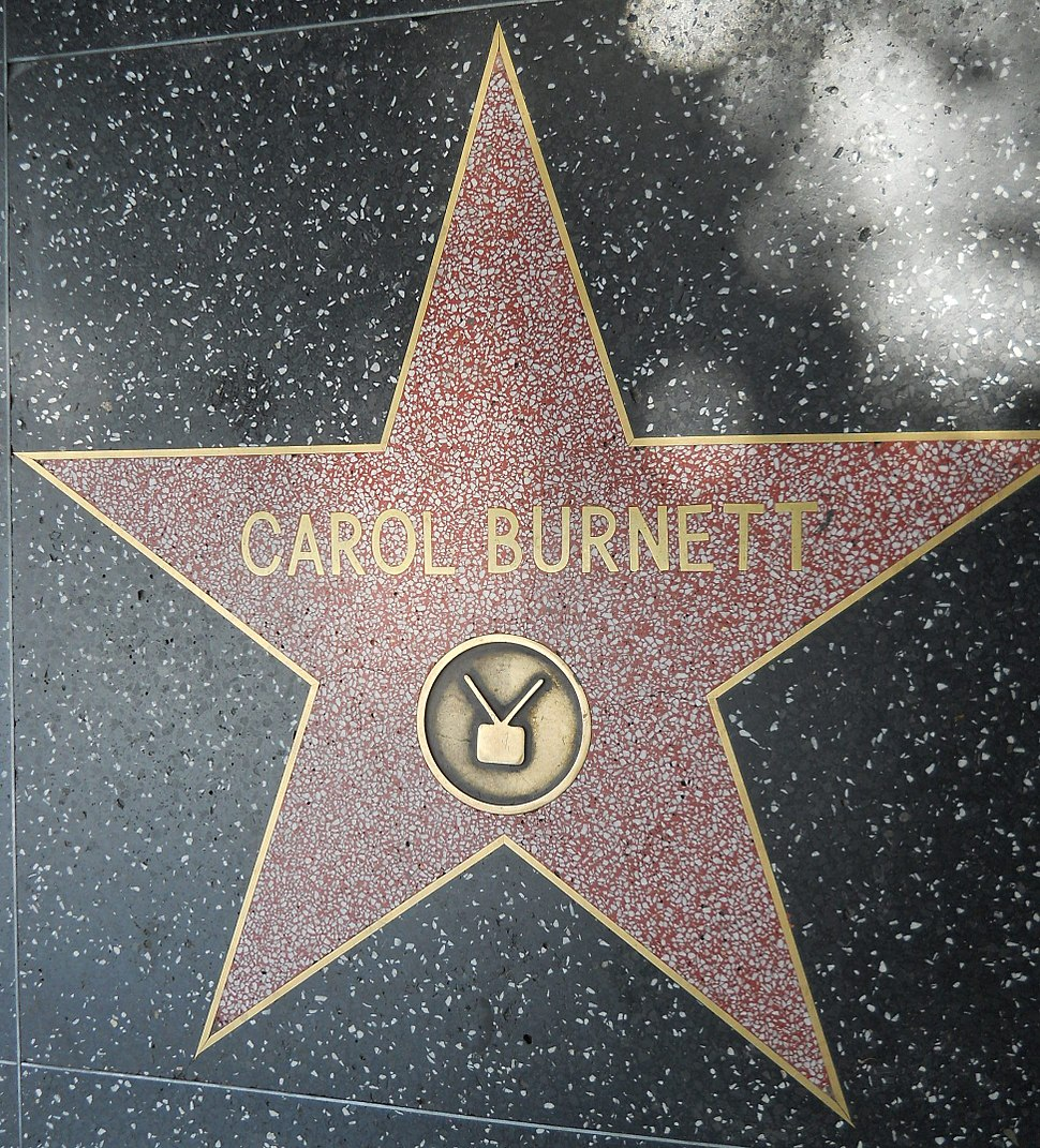 Carol Burnett's star on Hollywood Walk of Fame