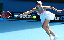 Caroline Wozniacki at the 2011 Australian Open2.jpg
