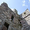 Carsluith Castle - detail of NW (entrance) elevation showing location of balcony.jpg