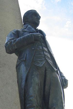 Carsten Anker - Statue of Carsten Anker at Eidsvollsbygningen in Eidsvoll