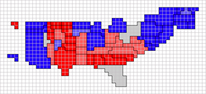 Red states and blue states - Image: Cartogram 2008 red blue