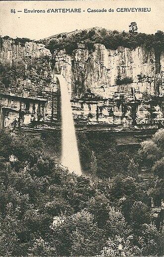 Artemare - Cerveyrieu Waterfall in 1929