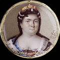 Catherine I by G.Musikiysky at watch (1725, Hillwood museum).jpg