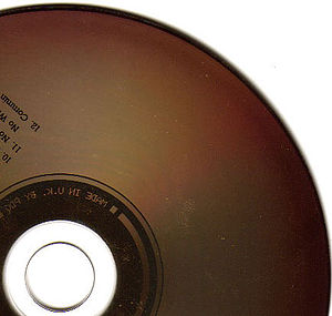 Compact disc bronzing - CD affected by bronzing