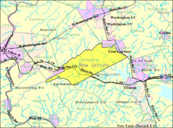 Census Bureau map of Bethlehem Township, New Jersey