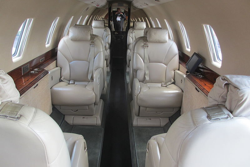 Description Cessna Citation X Cabin