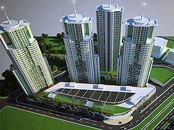 Cevahir Towers skyscrapers Skopje, computer animation, 2012.jpg
