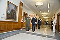 Chairman of the Joint Chiefs of Staff U.S. Army Gen. Martin E. Dempsey, center foreground, escorts Chief of Staff of the Armed Forces of the Philippines Gen. Emmanuel Bautista down a corridor in the Pentagon 130822-D-HU462-057.jpg