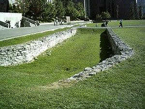 Champ de Mars, Montreal - Champ de Mars, location of original walls.