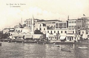 The old harbour during the Ottoman era.