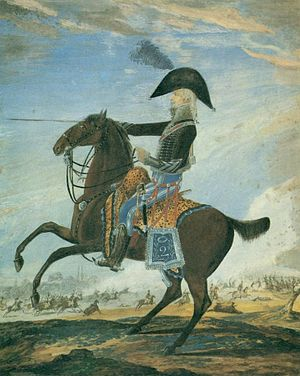 Charles Étienne de Ghigny - Charles Étienne de Ghigny as a squadron leader of the 2nd French Hussars, 1803.