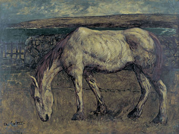 Charles Cottet - Old Horse in the Wasteland - Google Art Project.jpg
