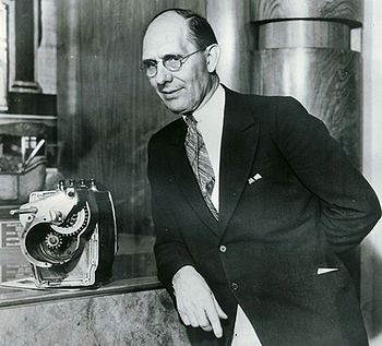 English: Charles F. Kettering, pictured with h...
