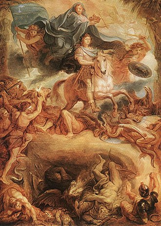 1677 in art - Le Brun – Apotheose of Louis XIV, Budapest Museum of Fine Arts