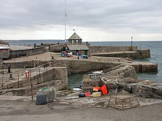 Charlestown, Cornwall - Harbour entrance and outer harbour