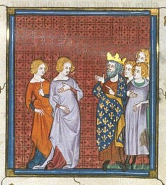 Matilda of Carinthia - Countess of Chartres appealing to Louis le Gros