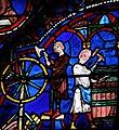 Chartres - Vitrail - Charron et tonnelier.JPG