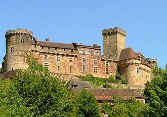 Château de Castelnau-Bretenoux - View of the castle.