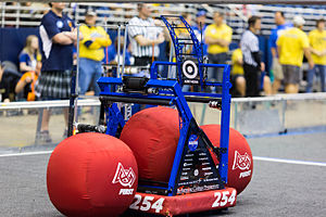 "For Inspiration and Recognition of Science and Technology - ""Barrage"", Team 254's 2014 World Champion FRC robot"