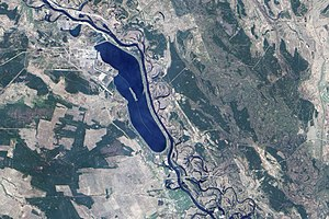 Effects of the Chernobyl disaster - Earth Observing-1 image of the reactor and surrounding area in April 2009.