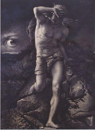 La Légende des siècles - La Conscience, illustration by François Chifflart
