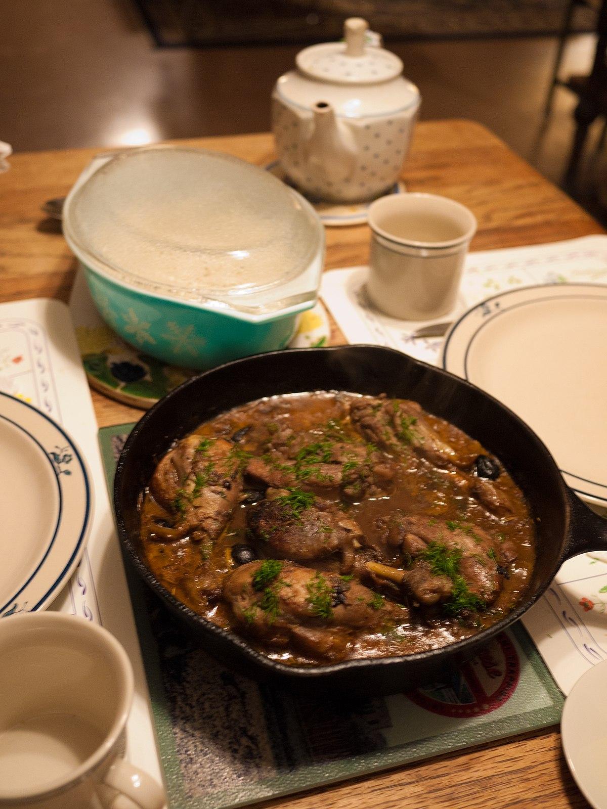 Poulet marengo wikip dia - Poulet marengo recette ...